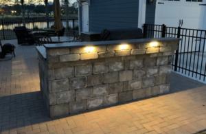 Outdoor Lighting Installed on this Outdoor Kitchen in Myrtle Beach